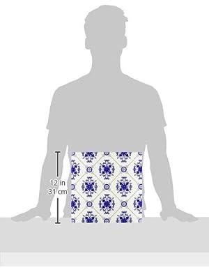 ct_192861 Janna Salak Designs Prints and Patterns - Elegant Blue and White Medallion Pattern - Tiles