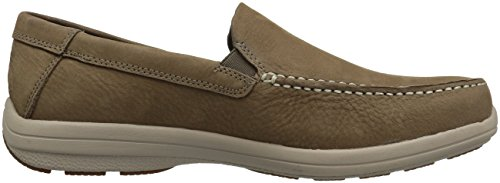 Hush Puppies Uomo Brevis Patterson Slip-on Mocassino Taupe