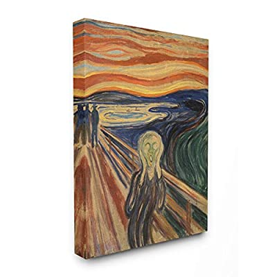 Stupell Industries Munch The Scream Classical Painting Canvas Wall Art, 30 x 40, Multi-Color