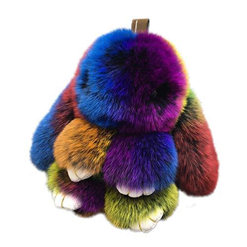 Bunny Fur Rex Rabbit Pompom Ball Doll