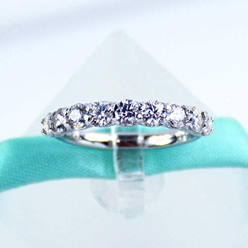 3MM White Moissanite Diamond Wedding Band, 925 Sterling Silver, Platinum -