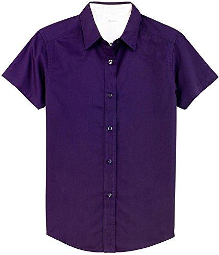 Joe's USA tm -Womens Short Sleeve Wrinkle Resistant Easy Care Shirts-L