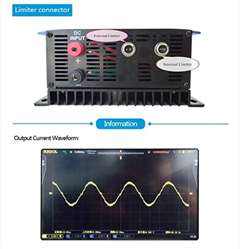 XIAOYANGKEJI 1000W Battery Backup MPPT Solar Grid Tie Inverter with Limiter Sensor DC22-60V AC PV Connected (DC22-60V, with WiFi) by XIAOYANGKEJI (Image #5)