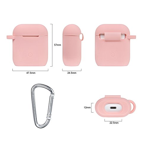 Airpods Accessories Set, Filoto Airpods Silicone Case Cover with Keychain/Strap/Earhooks/Waterproof Accessories Storage Travel Box for Apple Airpod (Pink) by Filoto (Image #5)