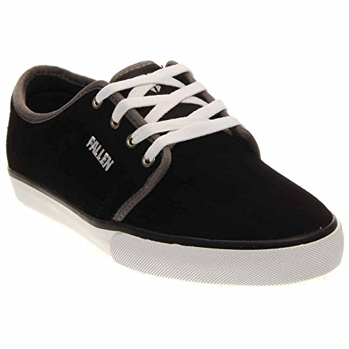 Fallen Forte 2 Skate Shoe,Black/White/Grey,8 M (Jamie Black Leather)