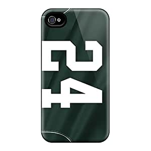 High Quality Hard Phone Covers For Iphone 6 (JYu10280FKLH) Allow Personal Design Realistic New York Jets Pattern