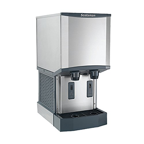 - Scotsman HID312A-6 Air Cooled Countertop Nugget Ice Machine & Water Dispenser (up to 260 lbs per 24 hrs/12 lb bin storage) 230V/50/1