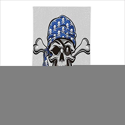 Scallywag Blood Red Hat (Vipsung Microfiber Ultra Soft Hand Towel-Skull Scallywag Pirate Dead Head Grunge Horror Icon Evil Sailor Crossed Bones Kerchief Blue Grey Black For Hotel Spa Beach Pool Bath)