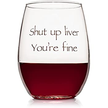 4fbca3004c8 Wedding Wine Gift - Funny Stemless wine glass (15 oz) - Great for  Bachelorette Parties - Unique Wine Glasses - Restaurant Quality for Red or  White Wine - A ...