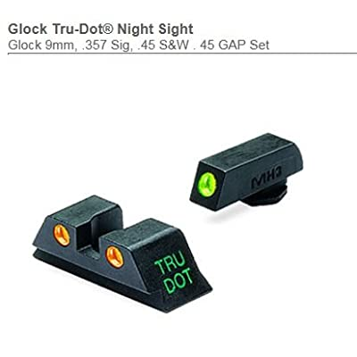 Meprolight Meprolight, Tru-Dot Sight, Fits Glk17, 19, 22, 23, Green/Orange