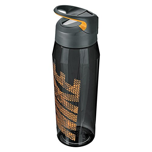 Nike TR Hypercharge 32 oz Straw Bottle (Anthracite/Grey/Laser Orange)