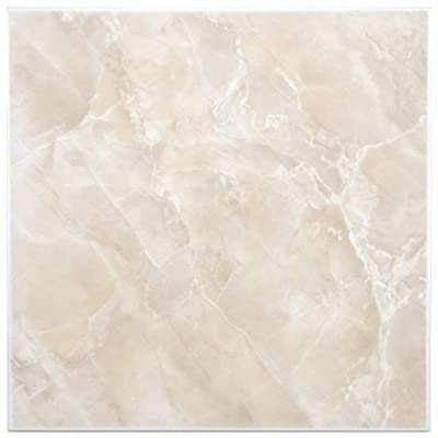 "SomerTile FTC12GBE Sigma Ceramic Floor and Wall Tile, 11.75"" x 11.75"", Beige/Cream"