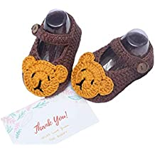 The Bunny Baby Bear Shoes Handmade Crochet Newborn Shoes Infant Soft Shoes Party Birthday Gift Baby Accessories Baby Clothings Boy Outfits