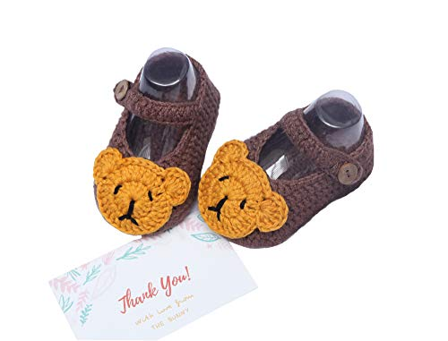 The Bunny Baby Bear Shoes Handmade Crochet Newborn Shoes Infant Soft Shoes...