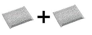 RSVP Nonstick Safe Cookware Scrubber Glass Pot Pan Dishwasher Pad (2-Pack)