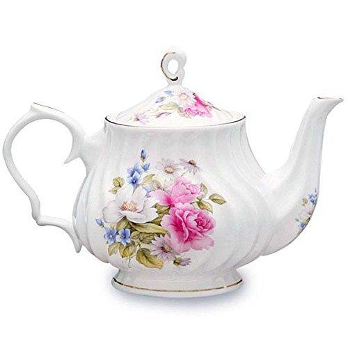 (Coastline Grace's Rose Bone China Teapot 31401 40 Ounce Capacity)