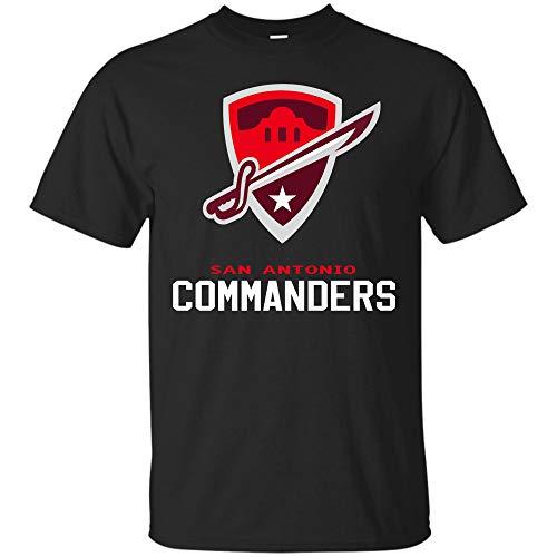 San-Antonio Commanders Tshirt Texas Sweetshirt Hoodie for Men Women (Unisex T-Shirt;Black;2XL)