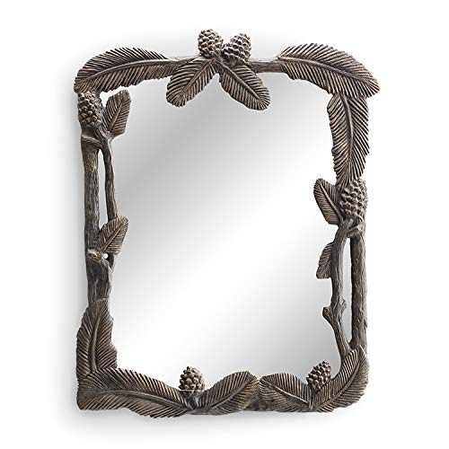 Pine Cone Mirror - SPI Home Pinecone and Leaf Wall Mirror