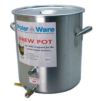 Polar Ware Stainless Steel Brewing Pot with Spigot- 40 Quart