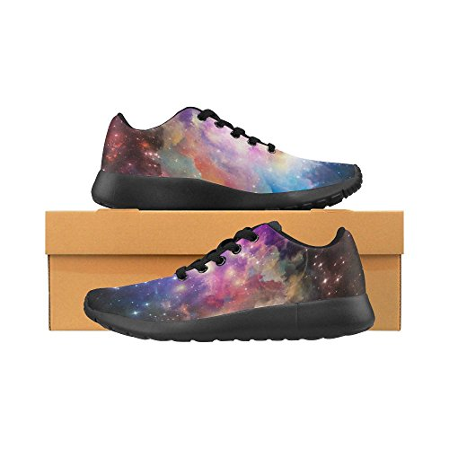 InterestPrint Womens Jogging Running Sneaker Lightweight Go Easy Walking Comfort Sports Athletic Shoes Galaxy Blue and Purple VFrV16vX5A