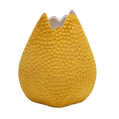 Eclante OVO Ceramic Decorative Vase Yellow Color | 6.25