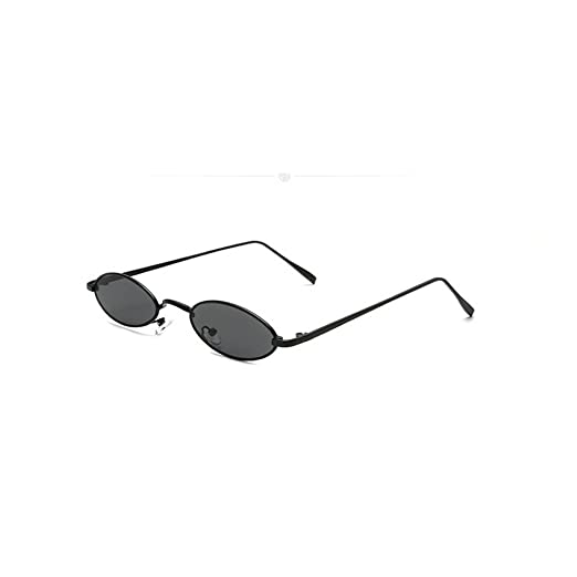 faa975158a MINCL punk Small Oval Metal Frame Chic Clear Candy Color Lens Sunglasses  (black grey