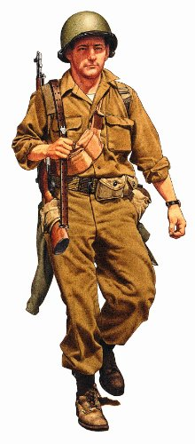 Military Uniforms of WWII Wall Decals - Officer 10th Mountain Div 12