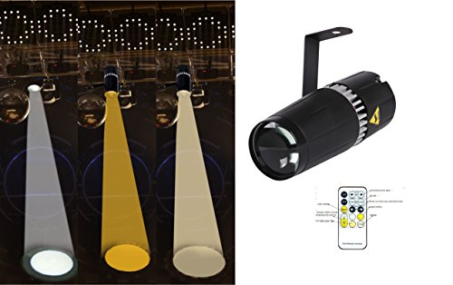 LED pinspot stage light,TOM 6W double white/cool white&warm white pinspot by RF controller (spot)