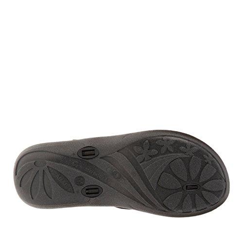Okabashi Dames Indigo String Slippers Met Flip Flop Zwart / Oranje