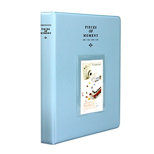 Amazing Works 128 Pockets Photo Album for Mini Fuji Instax 70 7s 8 25 50s 90, Polaroid Z2300, Polaroid PIC-300P Film (Blue)
