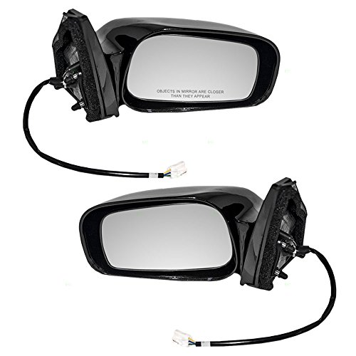(Driver and Passenger Power Side View Ready-to-Paint Mirrors Replacement for Toyota Pontiac 87940-02411-C0 87910-02411-C0 AutoAndArt)