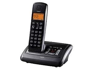 Topcom Dect Butler-E751 - Teléfono fijo digital (inalámbrico, pantalla LCD, contestador), negro