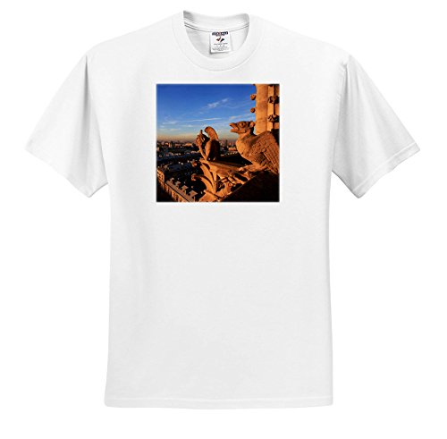 Price comparison product image 3dRose Danita Delimont - Cities - Gargoyles On Notre Dame Look Out Over The City, Paris, France - T-Shirts - Youth T-Shirt XS(2-4) (TS_257623_11)