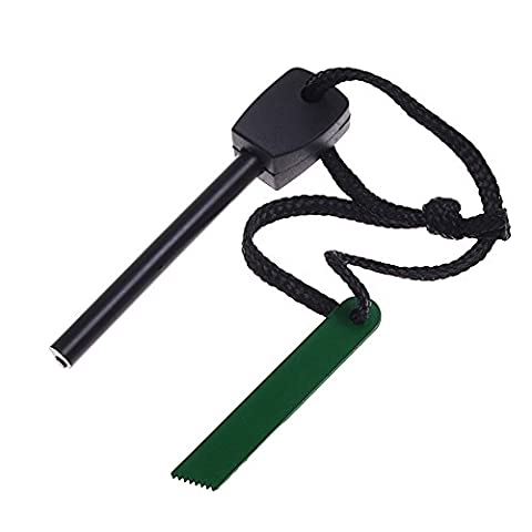 Geekercity Fire Starter - Magnesium Fire Starter Flint Stone Striker Bar Lighter Kit Ferro Rod (Ferrocerium) With Metal Rod - Outdoor Emergency Quick Fire Starters - Survival Kit Camping Tool