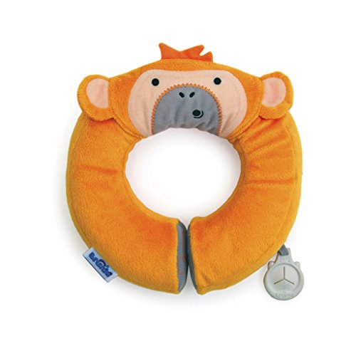 Trunki Yondi Travel Pillow, Orange Monkey, Small