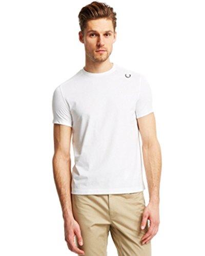 kenneth cole reaction mens mesh overlay logo tshirt white