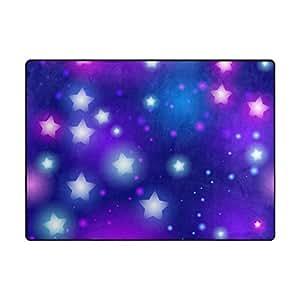 Weststyle Alfombrillas antideslizantes para puerta, diseño de estrellas, color morado, azul cielo, alfombras para niños, para sala de juegos, sala de estar, espuma suave