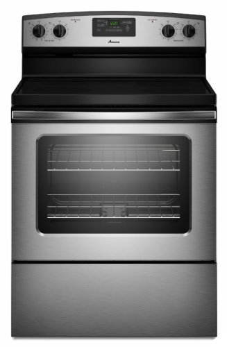 Amana AER5330BAS Stainless Steel 4.8 Cu. Ft. Smooth Top Electric Range with Radiant Elements (Range Amana 30 Inch)