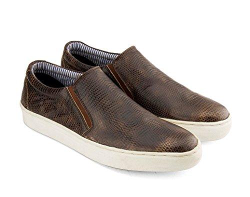 Gekko Zapatos de Cordones de Ante Para Hombre Marrón Marrón 40 EU
