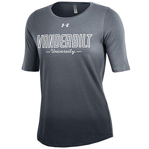 (Under Armour NCAA Vanderbilt Commodores Women's Dip Dye Short Sleeve Tee, X-Large, Gray)