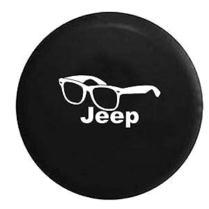 Jeep Beach Sunglasses Glasses Nerd Fashion Spare Tire Cover Vinyl Black 35 in