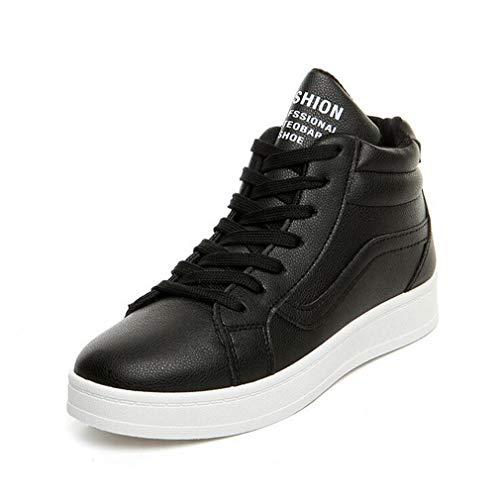 Exing Damen Schuhe Neue PU Kleine Weiße Schuhe/Damen Casual Wild Schuhe Deck Schuhe/Sommer Herbst Neue Akademie Schnürschuh High-Top Sneaker C