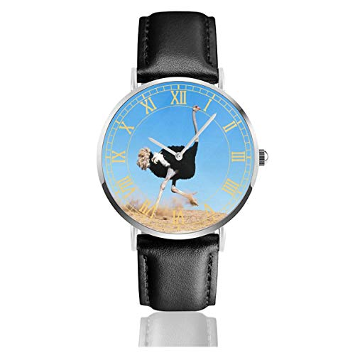 Ostrich Paw Belt - Watch Ostrich Kids Search Customized Wrist Watches Quartz Stainless Steel and PU Leather Personalized Custom for Unisex