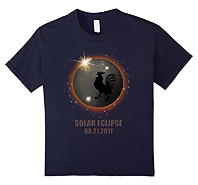 Chicken in Total Solar Eclipse 2017 Funny tshirt totality