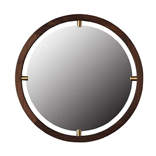 Mirrors Wall-Mounted Wall Such as The Moon Black Walnut Japanese Solid Wood -