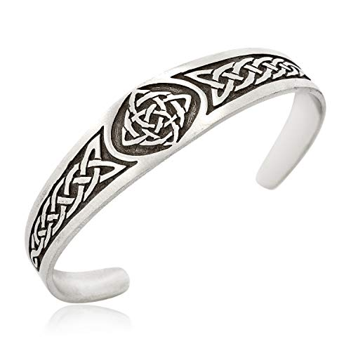 (Namaste Jewelers Irish Celtic Knot Cuff Bracelet with Irish Design Pewter Jewelry)