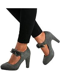Womens Bowtie Mary Jane Pumps Shoes Closed Toe High Heels Platform Party Dress Sandals