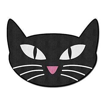 Black Cat Bathroom Rug Bath Room Mat Home Decor