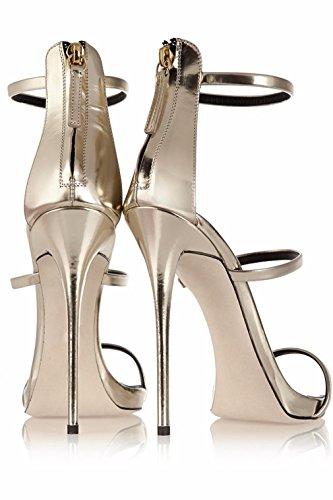Talons Rivet À Talon 46 Strass Chaussures CLOVER Surdimensionnées Stiletto Metal Sandales EU41 Silver Hauts A Summer Hippie Heavy EU38 Style LUCKY Taille Plus qfF0FwI