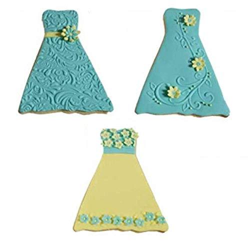 Formal Dress/gown Texture Cookie Cutter Set